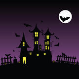 Sweet and beauty castle with bats vector part two Royalty Free Stock Images