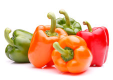 Sweet bell pepper isolated on white background cutout Stock Photos