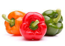 Sweet bell pepper isolated on white background cutout Stock Photography