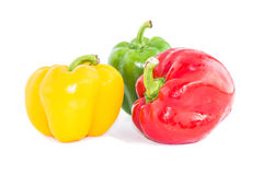 Sweet bell pepper isolated on white background cutout Royalty Free Stock Images