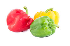 Sweet bell pepper isolated on white background cutout Royalty Free Stock Photo