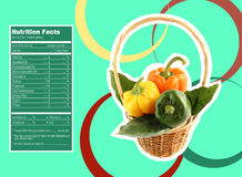Sweet  bell pepper nutrition facts Stock Image