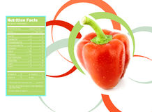Sweet  bell pepper nutrition facts Royalty Free Stock Photography