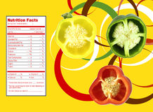 Sweet  bell pepper nutrition facts Stock Photography
