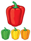 Sweet bell peppers Stock Photography