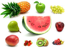 Sweet berries and fruits Stock Images