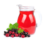 Sweet berries and juice Stock Images