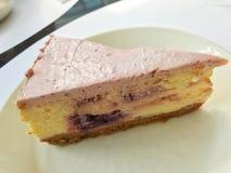 Sweet berry cheese cake stock photos