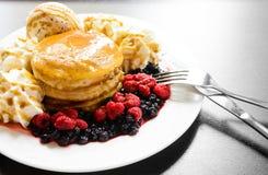 Sweet berry pancake Stock Image