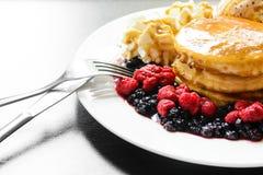Sweet berry pancake Royalty Free Stock Photo