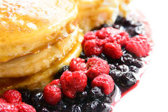 Sweet berry pancake Royalty Free Stock Images