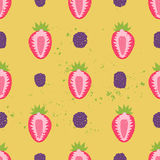 Sweet berry seamless pattern Royalty Free Stock Images