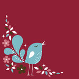 Sweet bird card design Stock Images