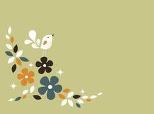 Sweet bird card design Royalty Free Stock Image