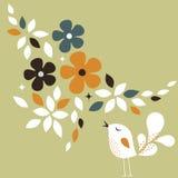 Sweet bird card design Stock Photo