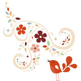 Sweet bird card design Royalty Free Stock Photography
