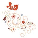 Sweet bird card design Stock Photos