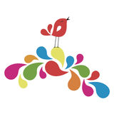 Sweet Bird Card Design Royalty Free Stock Images