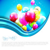 Sweet birthday background with copyspace Royalty Free Stock Photo