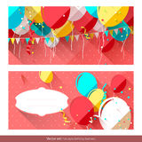 Sweet birthday banners Stock Image
