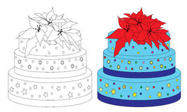 Sweet birthday cake Stock Images