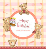 Sweet Birthday greetings Stock Image