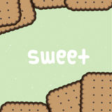 Sweet biscuit background Royalty Free Stock Photography