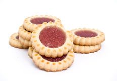 Sweet biscuits filled with raspberry Royalty Free Stock Image