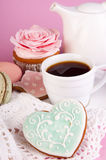 Sweet bisquit and coffee Royalty Free Stock Photography