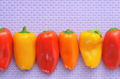 Sweet bite peppers of different colors Stock Photo