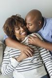 Sweet black couple showing their love Stock Image