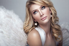 Sweet blond angel Royalty Free Stock Images