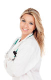 Sweet blond doctor Stock Image