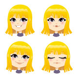 Sweet Blond Girl. Sweet little blond girl expressing different emotions Stock Images