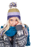 Sweet blond girl portrait Stock Image