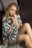 Sweet blond looking in camera Royalty Free Stock Image