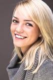 Sweet Blond Portrait. Closeup Portrait Of A Sweet Beautiful Girl Stock Image