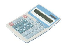 Sweet blue color calculator Royalty Free Stock Photo