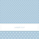 Sweet, blue polka dots vector card or invitation Stock Photo