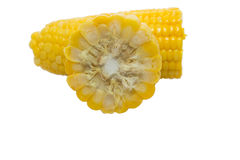 Sweet boiled corn Stock Photo