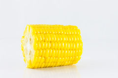 Sweet boiled corn on white background Stock Photography