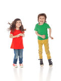 Sweet boy and girl Stock Images