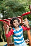 Sweet boy at the park Royalty Free Stock Photography