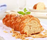 Sweet braided bread Royalty Free Stock Image
