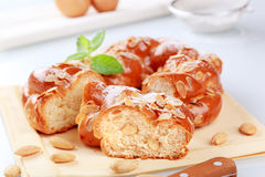 Sweet braided bread Stock Photo