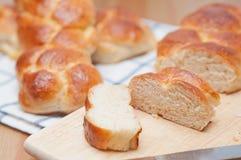 Sweet braided bread Royalty Free Stock Photos