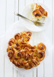 Sweet braided bread Royalty Free Stock Photos