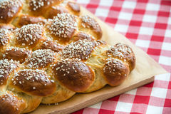 Sweet braided bread loafs Royalty Free Stock Photography