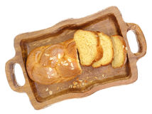 Sweet braided brioche bread Royalty Free Stock Image