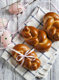 Sweet Braided buns Stock Images